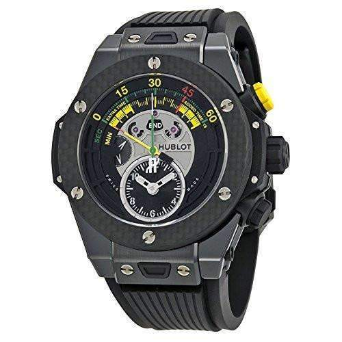 HUBLOT BIG BANG UNICO BI-RETROGRADE CHRONO CERAMIC CARBON 45 MM MEN WATCH 412.CQ.1127.RX