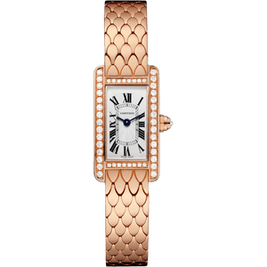 CARTIER TANK AMERICAINE PINK GOLD 18K WOMEN WATCH  WB710012 - ROOK JAPAN