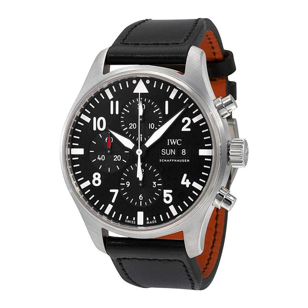 IWC PILOT'S CHRONOGRAPH BLACK MEN WATCH IW377709