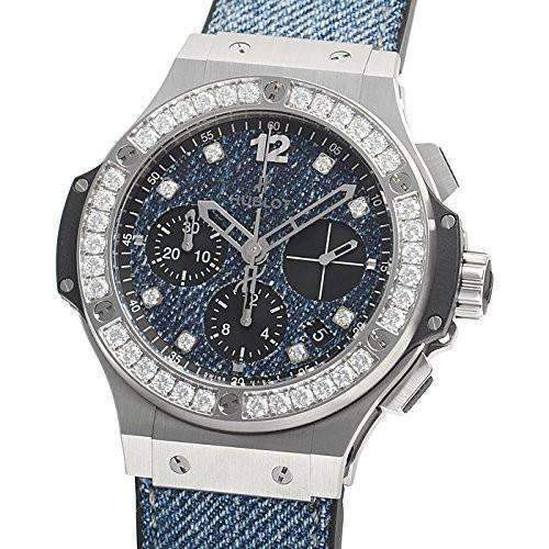 HUBLOT BIG BANG JEANS STEEL DIAMONDS 41 MM MEN WATCH 341.SX.2770.NR.1204