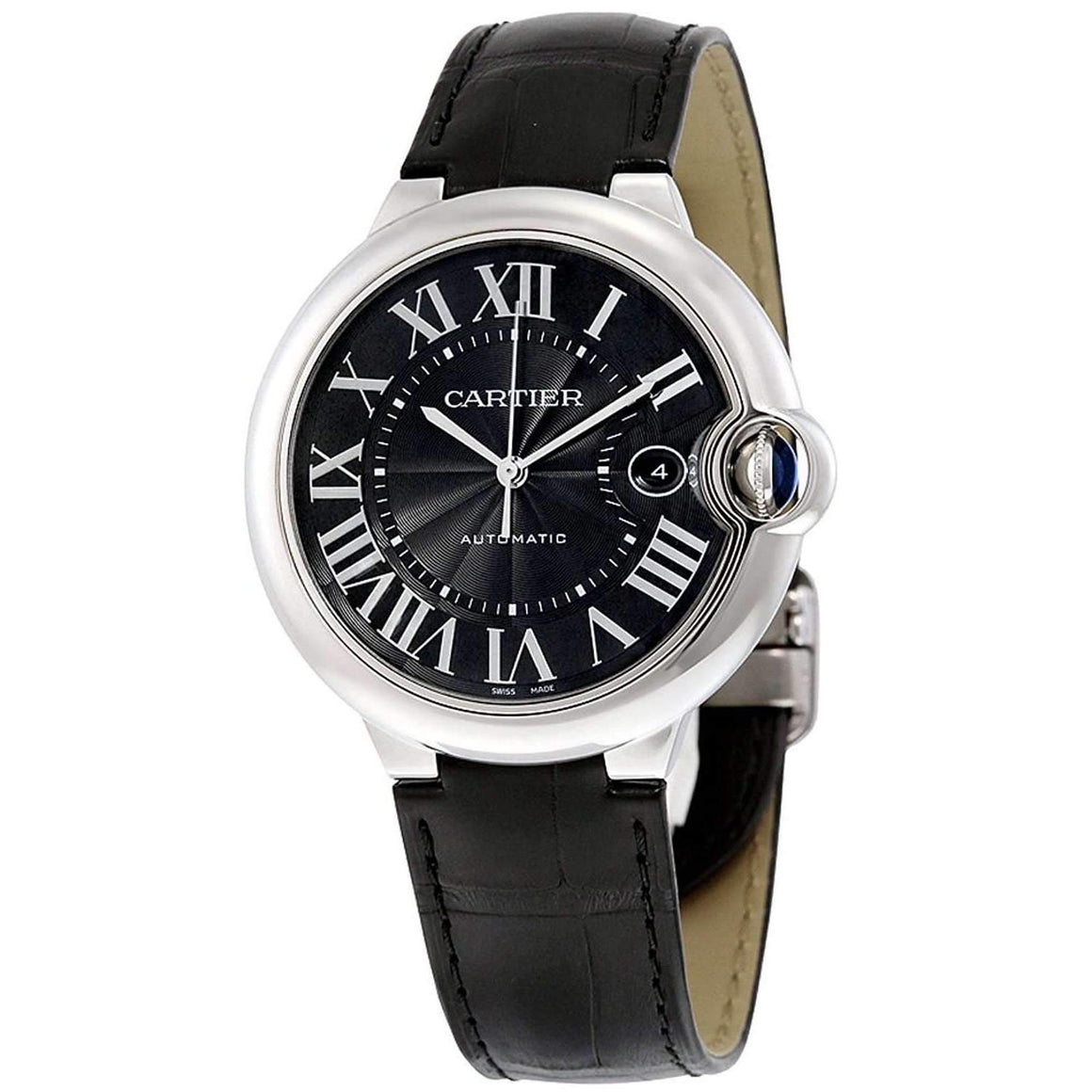 CARTIER BALLON BLEU BLACK 42 MM DIAL MEN WATCH  WSBB0003 - ROOK JAPAN