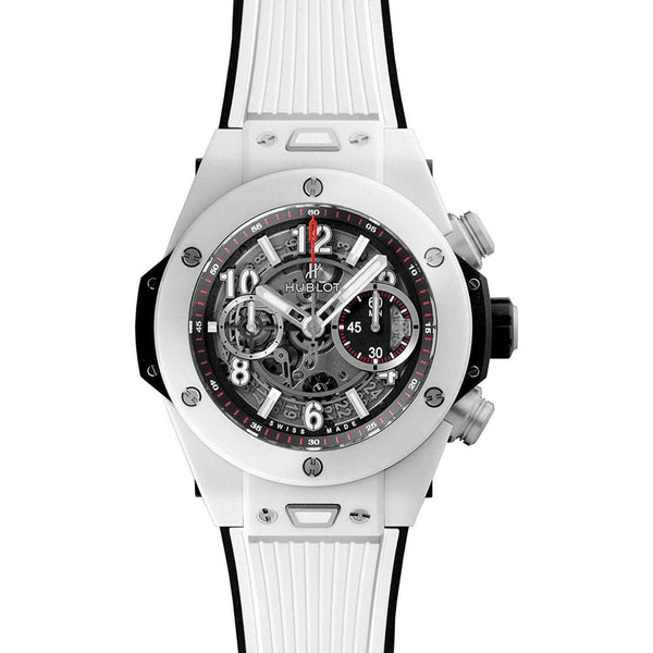 HUBLOT BIG BANG UNICO WHITE CERAMIC 45 MM MEN WATCH 411.HX.1170.HX