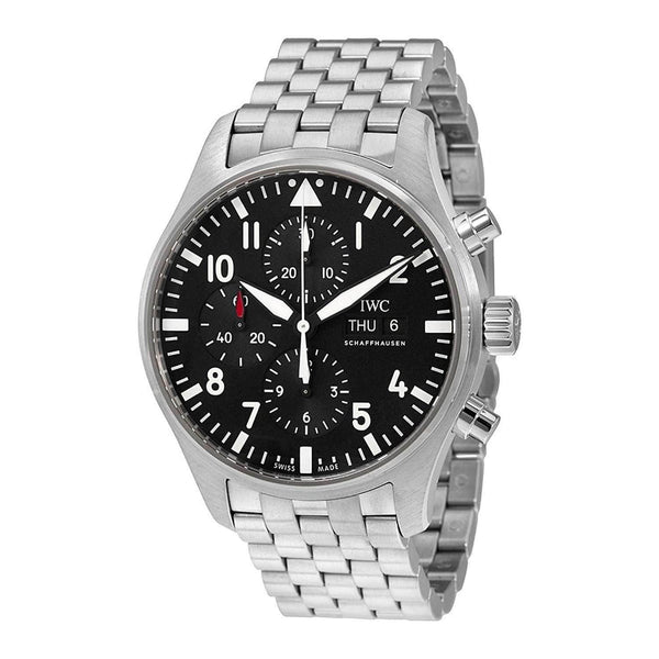 IWC PILOT'S CHRONOGRAPH BLACK MEN WATCH IW377710