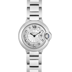 CARTIER BALLON BLEU STAINLESS STEEL DIAL WOMEN WATCH WE902073 - ROOK JAPAN