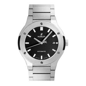 HUBLOT ClASSIC FUSION TITANIUM BRACELET 45 MM  MEN WATCH 510.NX.1170.NX - ROOK JAPAN