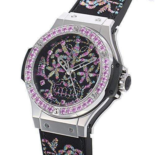 HUBLOT BIG BANG BRODERIE SUGAR SKULL STEEL 41 MM WOMEN WATCH 343.SS.6599.NR.1233 - ROOK JAPAN