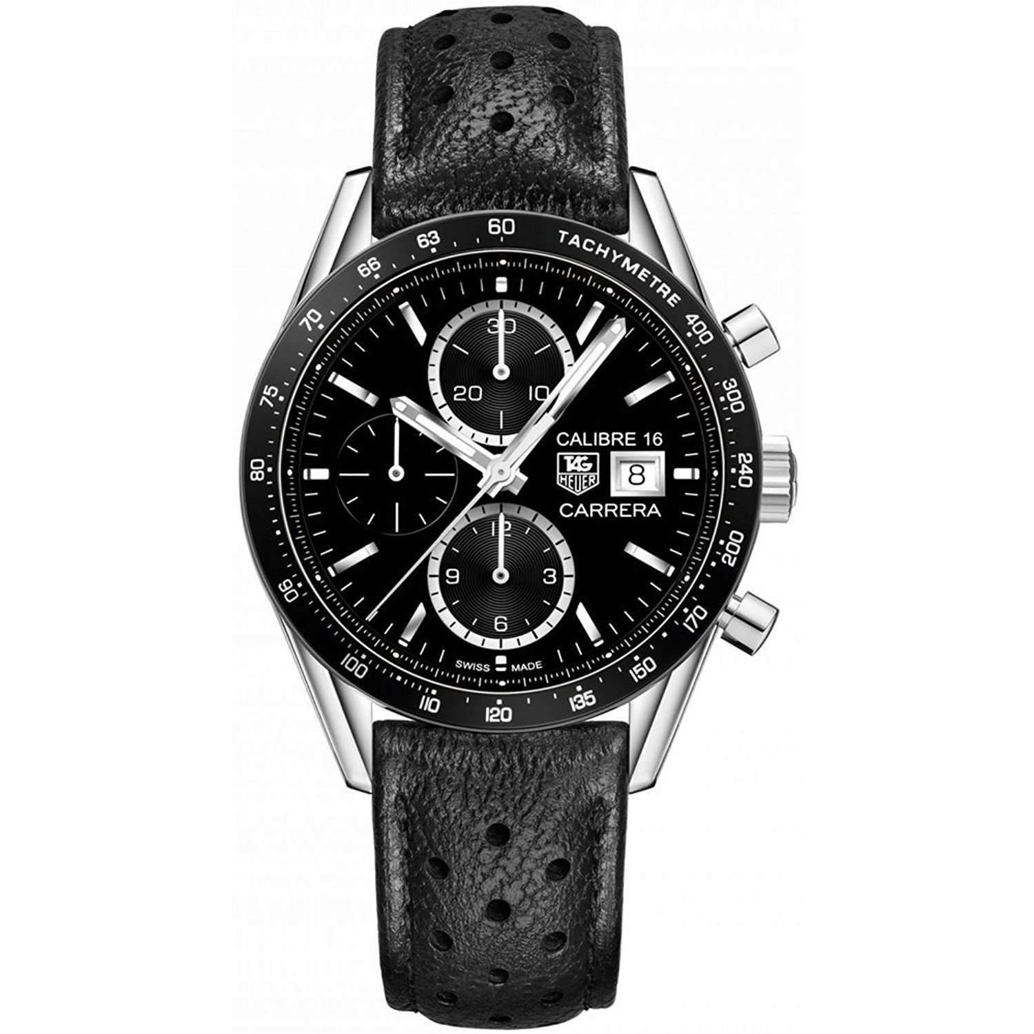 carrera heuer photo man calibre automatic ref watch burgundy k tag watches steel wrist winding