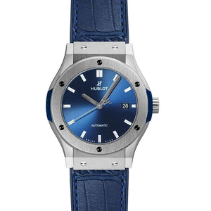 HUBLOT ClASSIC FUSION BLUE TITANIUM 42 MM  MEN WATCH 542.NX.7170.LR - ROOK JAPAN
