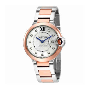 CARTIER BALLON BLEU TWO-TONE STAINLESS STEEL DIAL WOMEN WATCH W3BB0007 - ROOK JAPAN