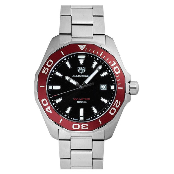 TAG HEUER AQUARACER RED ALUMINUM BEZEL MEN WATCH WAY101A.BA0746