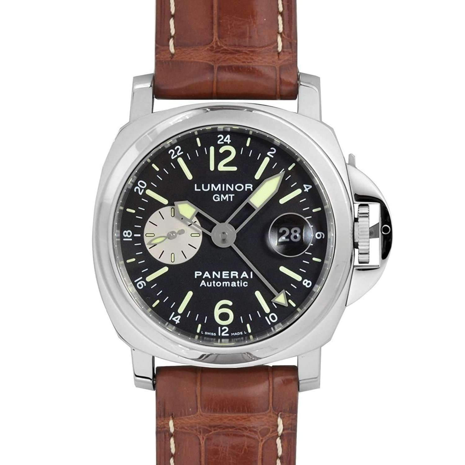 PANERAI LUMINOR GMT AUTOMATIC ACCIAIO - 44MM MEN WATCH PAM00088 - ROOK JAPAN