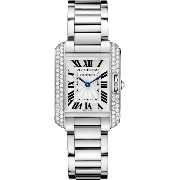 CARTIER TANK ANGLAISE WHITE GOLD WOMEN WATCH  WT100008