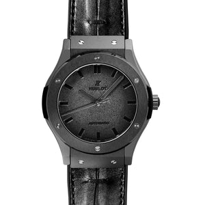 HUBLOT CLASSIC FUSION BERLUTI ALL BLACK  45 MM MEN WATCH 511.CM.0500.VR.BER16 - ROOK JAPAN