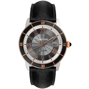 CARTIER RONDE CROISIERE BlACK DIAL MEN WATCH W2RN0005 - ROOK JAPAN