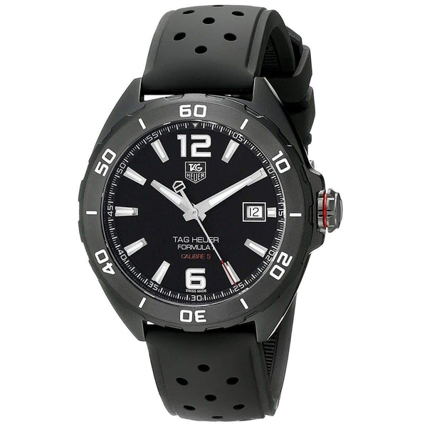 TAG HEUER FORMULA 1 AUTOMATIC BLACK TITANIUM MEN WATCH WAZ2115.FT8023 - ROOK JAPAN