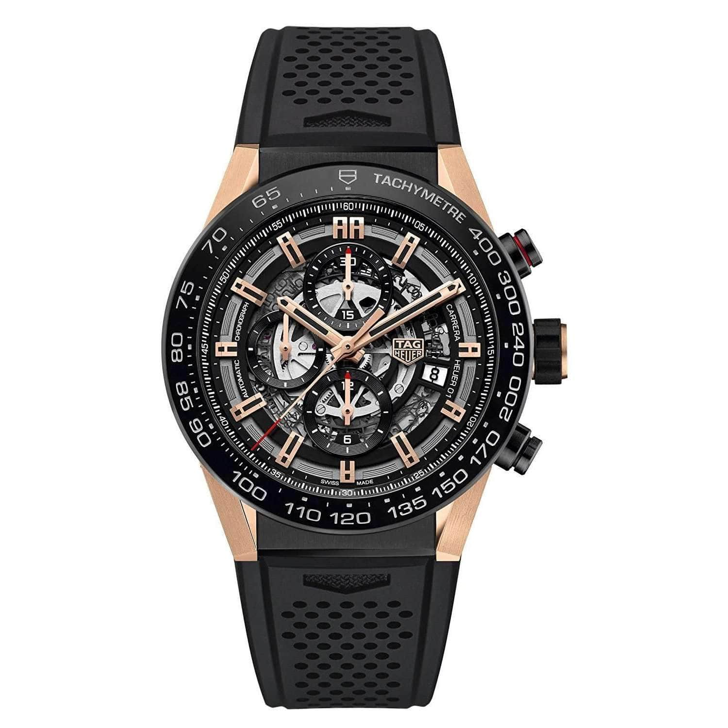 TAG HEUER CARRERA ROSE GOLD CHRONOGRAPH MEN WATCH CAR2A5A.FT6044 - ROOK JAPAN
