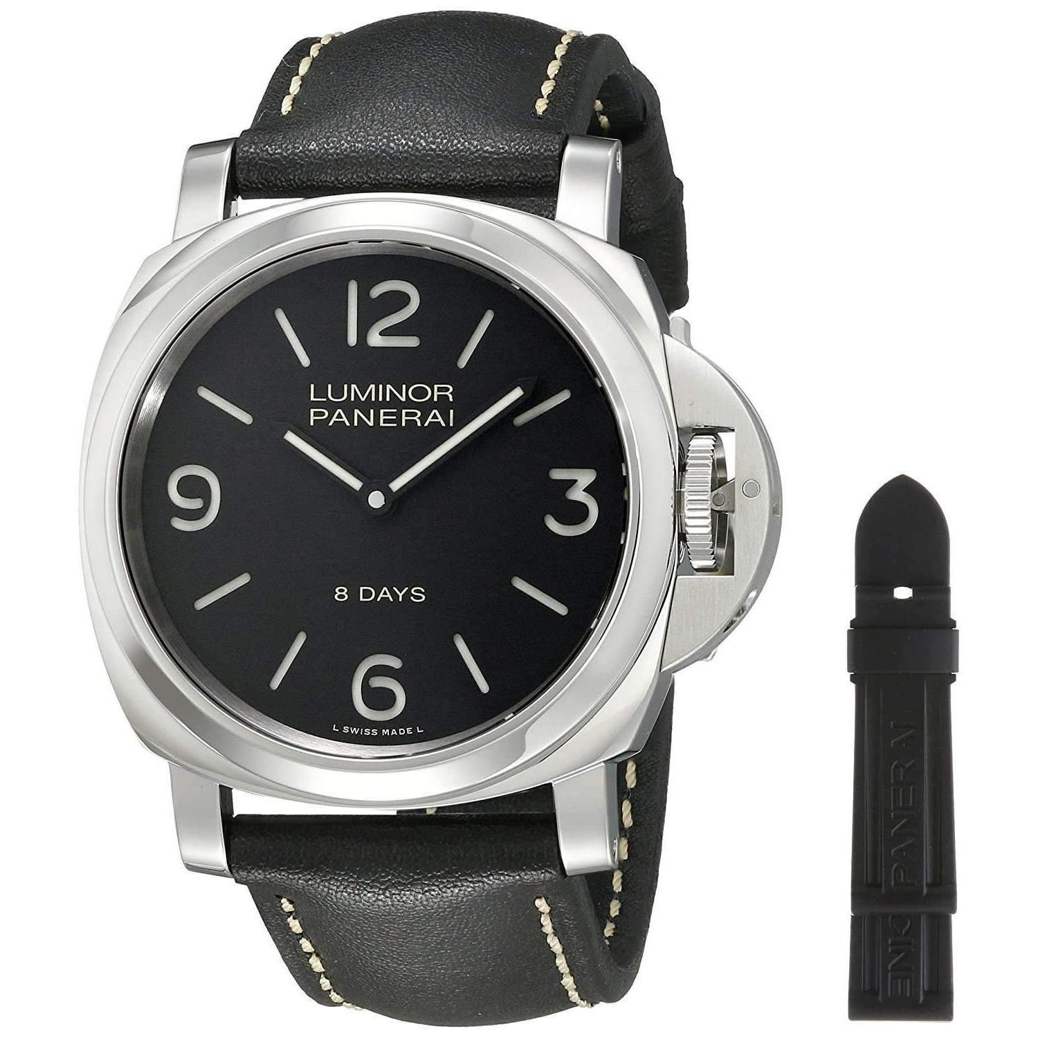 PANERAI LUMINOR BASE 8 DAYS ACCIAIO - 44MM MEN WATCH PAM00560 - ROOK JAPAN