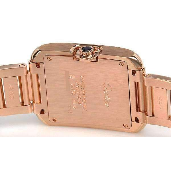 CARTIER TANK ANGLAISE PINK GOLD 18K WOMEN WATCH  W5310041 - ROOK JAPAN
