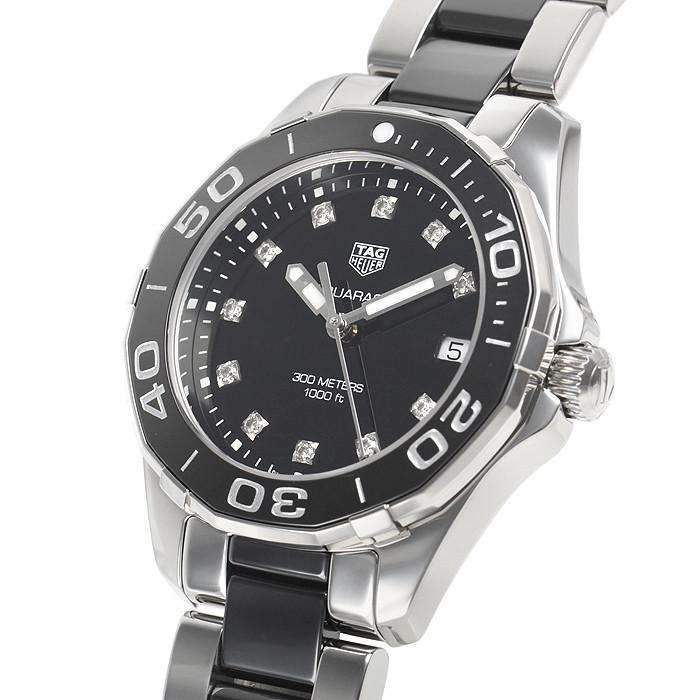 TAG HEUER AQUARACER BLACK DIAL DIAMOND WOMEN WATCH WAY131C.BA0913 - ROOK JAPAN