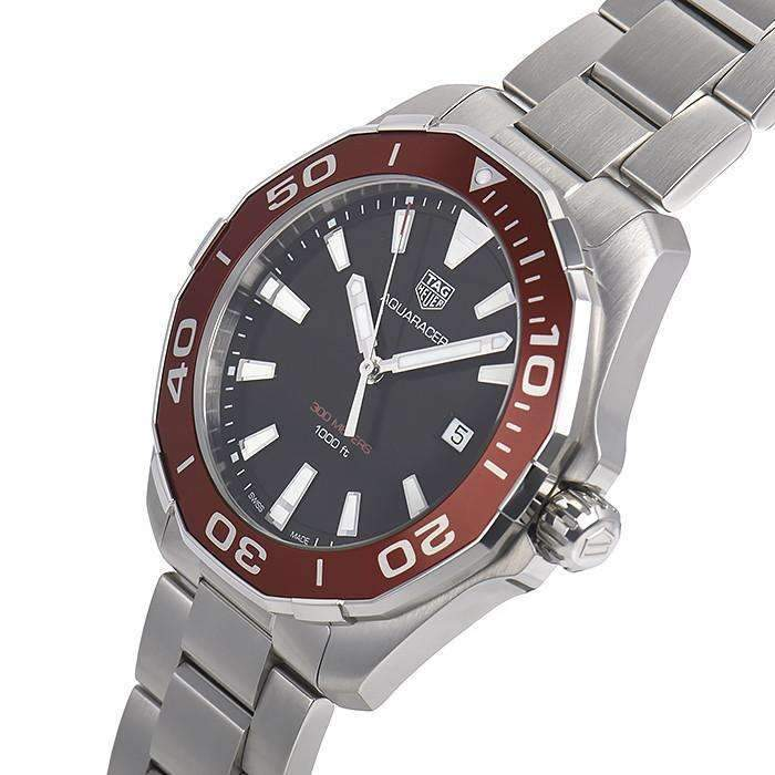 TAG HEUER AQUARACER RED ALUMINUM BEZEL MEN WATCH WAY101A.BA0746 - ROOK JAPAN