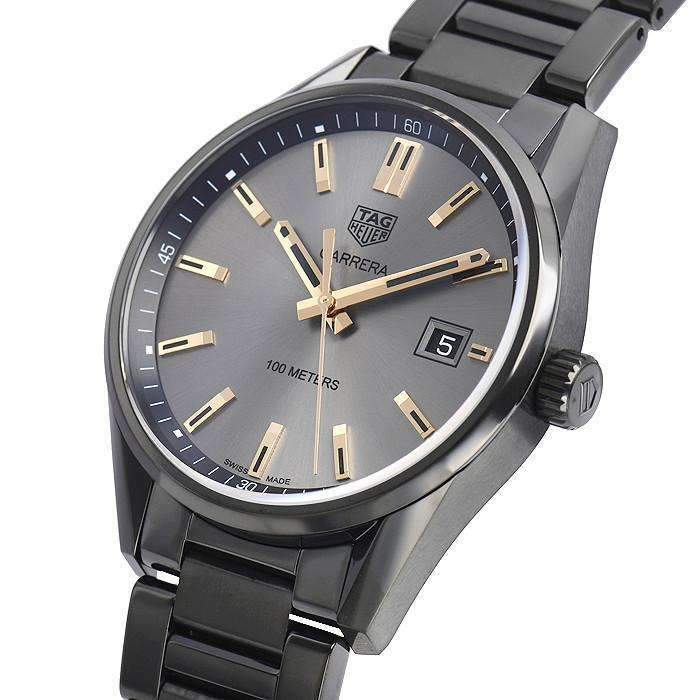 TAG HEUER CARRERA BLACK TITANIUM CARBIDE COATED MEN WATCH WAR1113.BA0602 - ROOK JAPAN