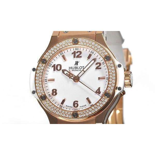 HUBLOT BIG BANG GOLD WHITE DIAMONDS 38 MM WOMEN WATCH 361.PE.2010.RW.1104