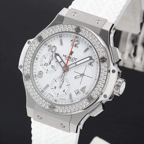 HUBLOT BIG BANG STEEL WHITE DIAMONDS 41 MM WOMEN WATCH 342.SE.230.RW.114 - ROOK JAPAN