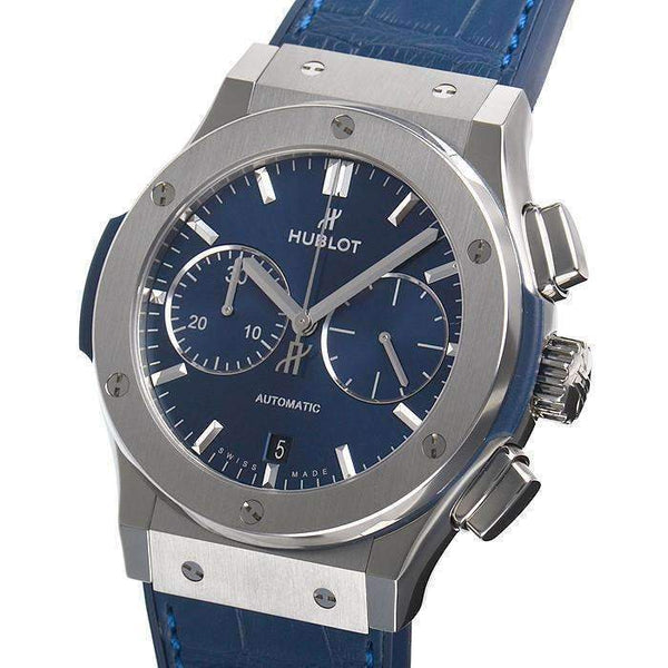 HUBLOT ClASSIC FUSION BLUE CHRONOGRAPH TITANIUM 45 MM MEN WATCH 521.NX.7170.LR - ROOK JAPAN