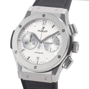 HUBLOT ClASSIC FUSION CHRONOGRAPH TITANIUM OPALIN 45 MM MEN WATCH 521.NX.2611.LR - ROOK JAPAN
