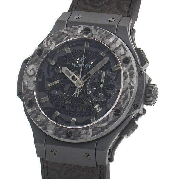 HUBLOT BIG BANG AERO BANG SUGAR SKULL CERAMIC CARBON 44 MM MEN WATCH 311.CQ.1110.VR.FDK15 - ROOK JAPAN