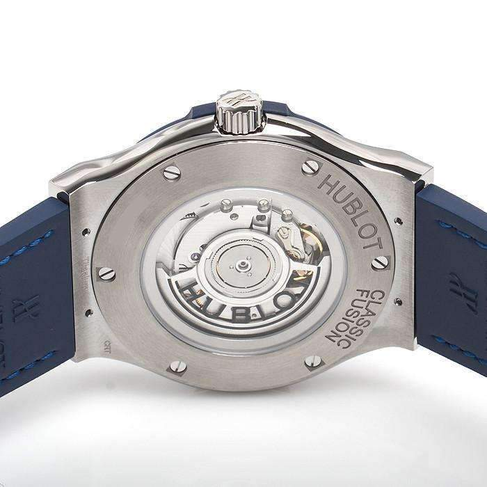 HUBLOT ClASSIC FUSION BLUE TITANIUM 45 MM  MEN WATCH 511.NX.7170.LR - ROOK JAPAN