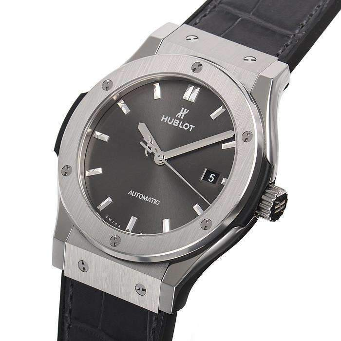 HUBLOT ClASSIC FUSION AUTOMATIC TITANIUM 42 MM  MEN WATCH 542.NX.7071.LR - ROOK JAPAN