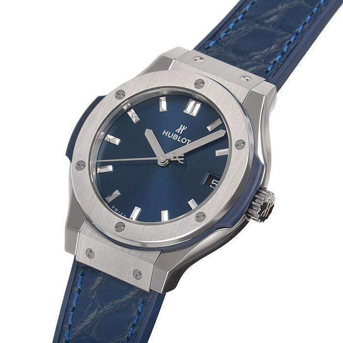 HUBLOT CLASSIC FUSION BLUE TITANIUM 33 MM WOMEN WATCH 511. NX. 7170. LR - ROOK JAPAN