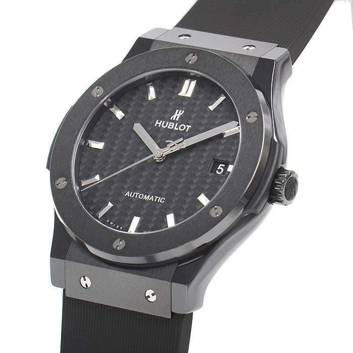 HUBLOT ClASSIC FUSION BLACK MAGIC 45 MM  MEN WATCH 511.CM.1771.RX - ROOK JAPAN