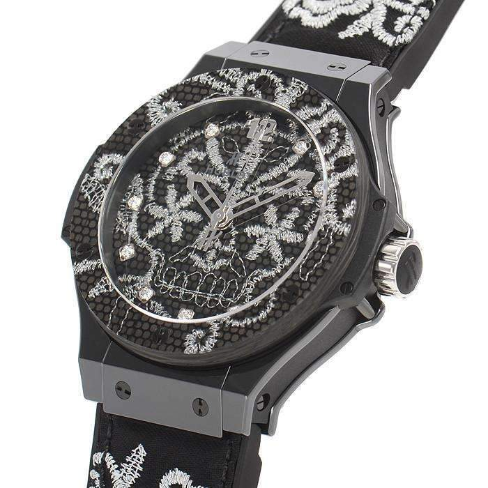 HUBLOT BIG BANG BRODERIE CERAMIC 41 MM WOMEN WATCH 343.CS.6570.NR.BSK16 - ROOK JAPAN