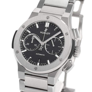 HUBLOT CLASSIC FUSION CHRONOGRAPH TITANIUM BRACELET 45 MM MEN WATCH 520.NX.1170.NX - ROOK JAPAN