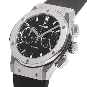 HUBLOT ClASSIC FUSION BLACK TITANIUM 45 MM MEN WATCH 521.NX.1171.RX - ROOK JAPAN
