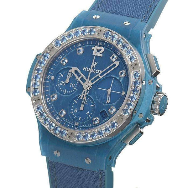 HUBLOT BIG BANG BLUE LINEN 41 MM WOMEN WATCH 341.XL.2770.NR.1201 - ROOK JAPAN