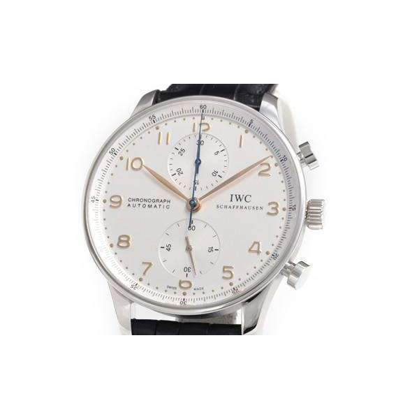 IWC PORTUGIESER CHRONOGRAPH SILVER AUTOMATIC MEN WATCH  IW371445 - ROOK JAPAN