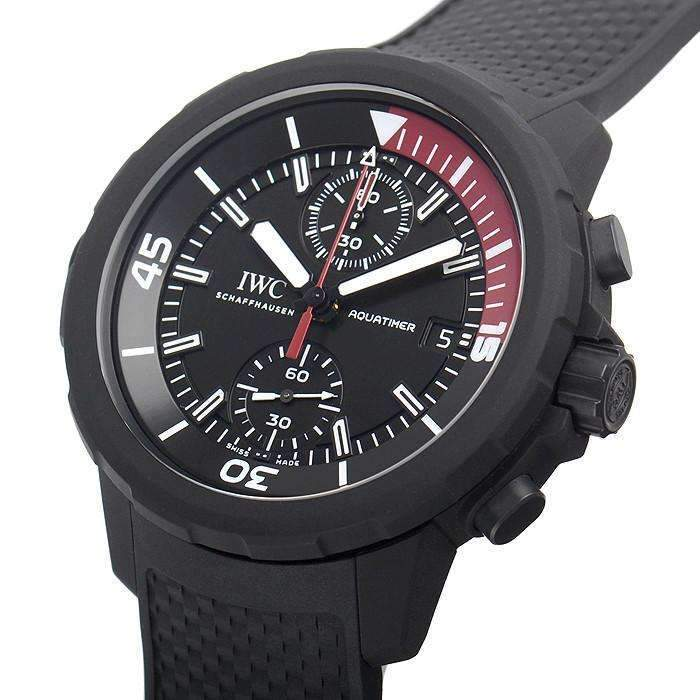 IWC AQUATIMER CHRONOGRAPH BLACK EDITION MEN WATCH IW379505