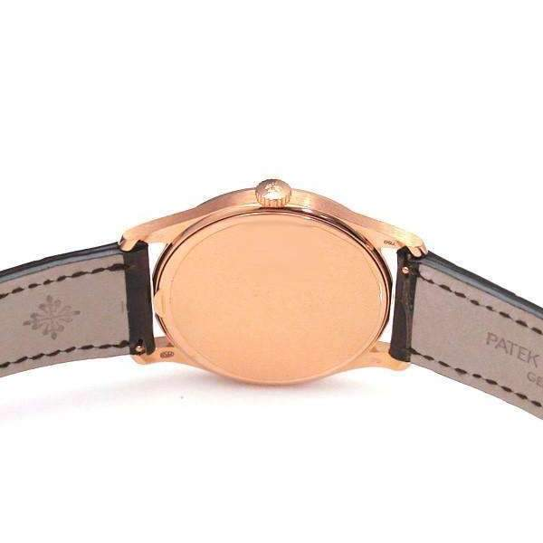 PATEK PHILIPPE CALATRAVA OPALINE 18K ROSE GOLD MEN WATCH 5196R-001 - ROOK JAPAN