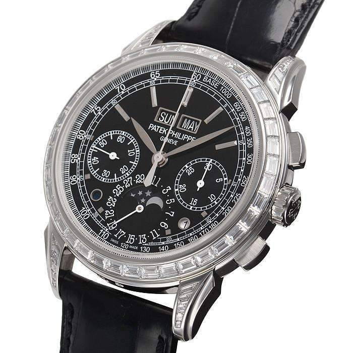 PATEK PHILIPPE GRAND COMPLICATIONS PERPETUAL CALENDAR CHRONOGRAPH MEN WATCH 5271P-001 - ROOK JAPAN