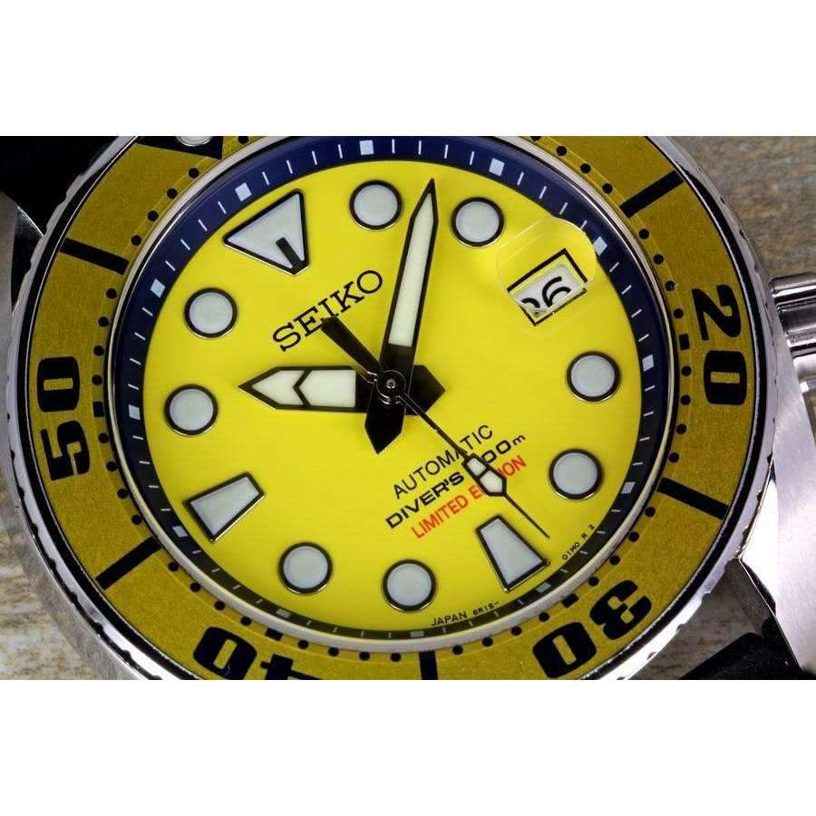 SEIKO PROSPEX SUMO YELLOW DIVER SCUBA AUTOMATIC WATCH (Limited Edition) SBDC017 - ROOK JAPAN
