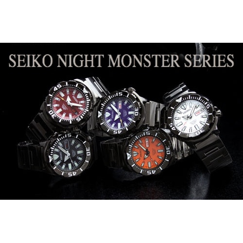 SEIKO NIGHT MONSTER JAPAN SERIES MEN WATCHES (Limited Model) SZEN002-SZEN006-SZEN007-SZEN009-SZEN010