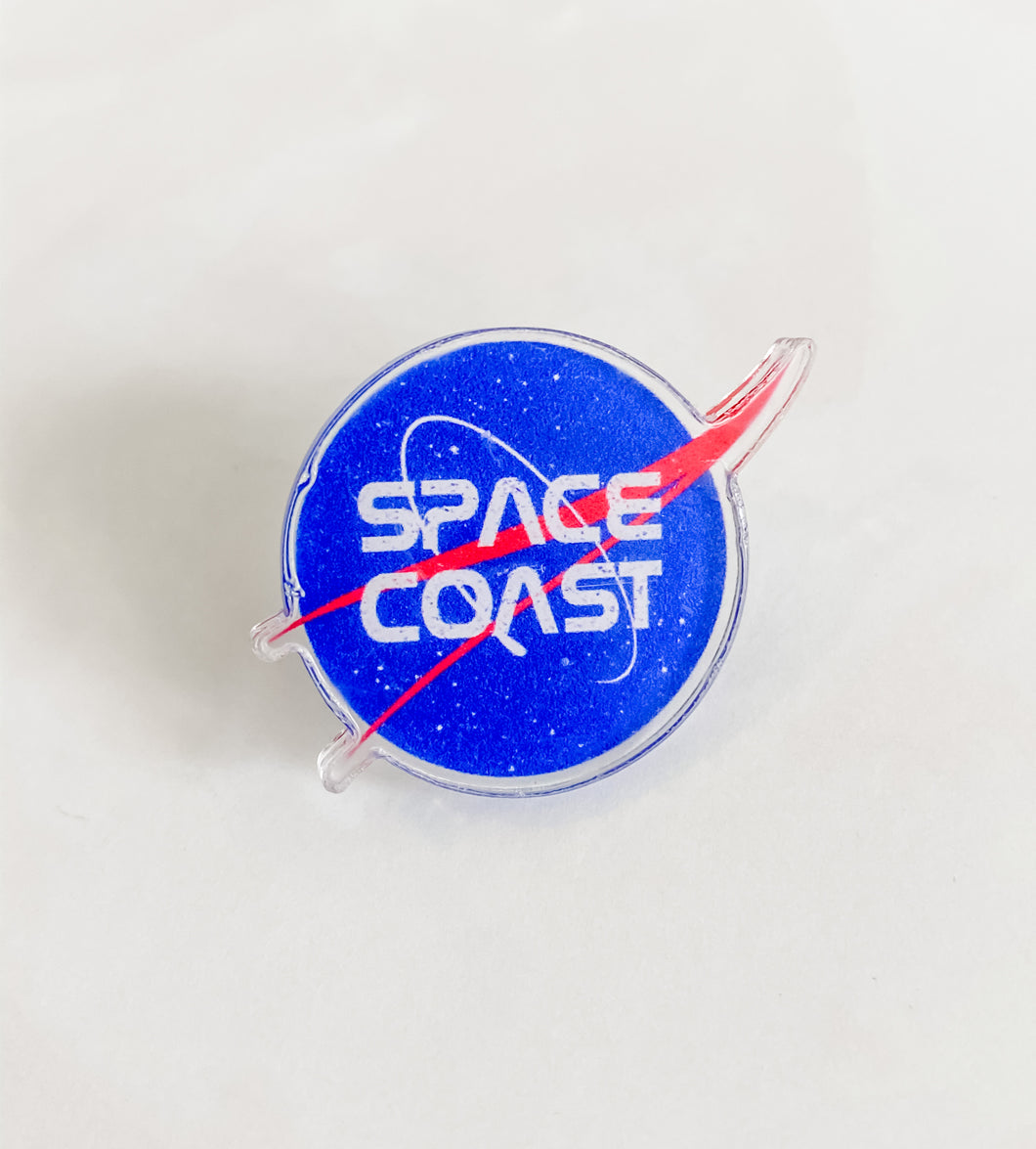 NASA acrylic pin
