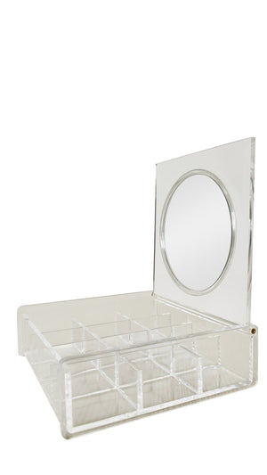 Luxury Palace make up organizer Organizer met rond spiegeltje