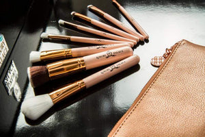 luxurypalace.nl Kwast Professionele make up kwasten set by Luxury Palace - Pink