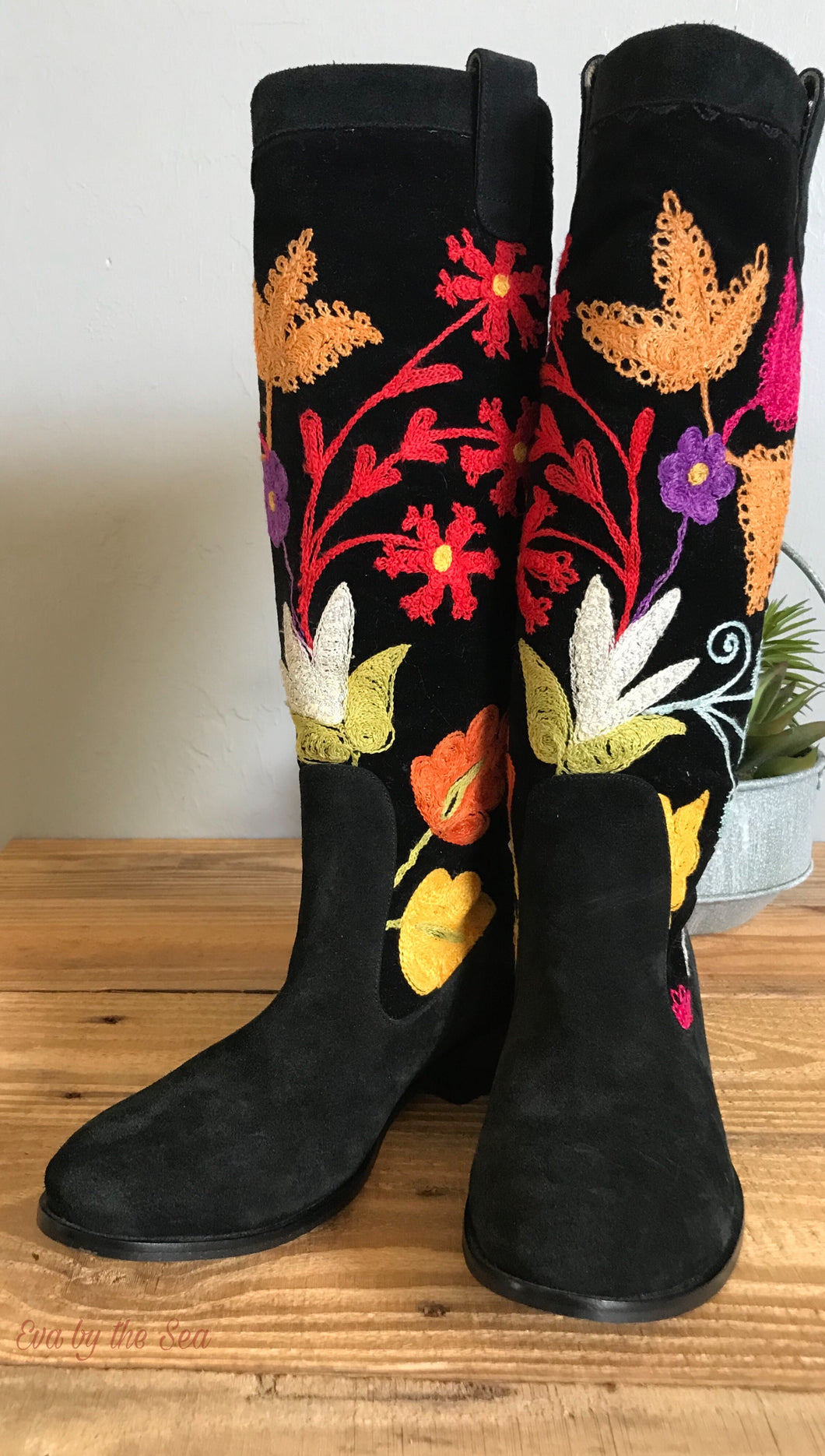Embroidered One Of A Kind Knee High Riding Boot