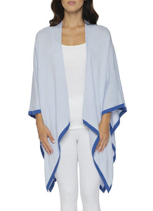 Light Weight Wrap in Pale Blue