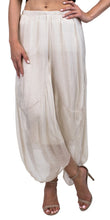 Silk Crop Balloon Pant in Cream